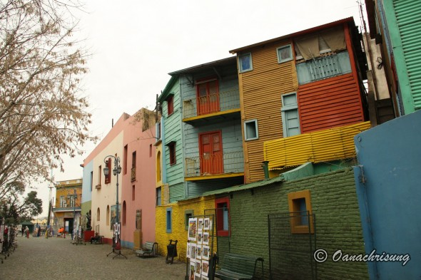 Case colorate in cartierul La Boca, Buenos Aires, Argentina