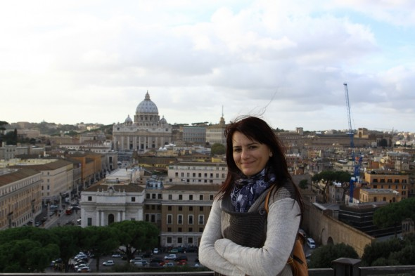 View from Castel San'Angelo Roma