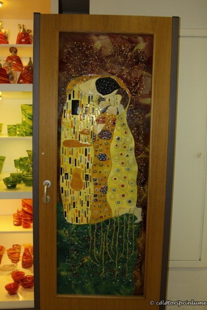 Mdina Glass Ta Qali Malta glass door Klimt