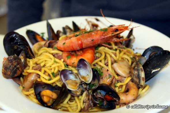 pasta with seafood Boat House restaurant Xlendi Gozo Malta