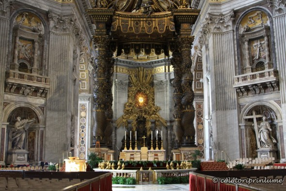 Altar Inside the Church of St. Peter Vatican
