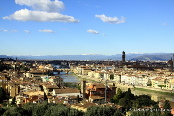 Arno River Firenze view from Piazza Michelangelo