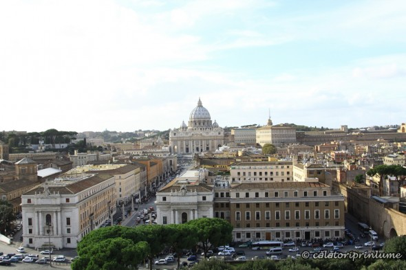 Basilica San Pietro - view from Castel Sant' Angelo