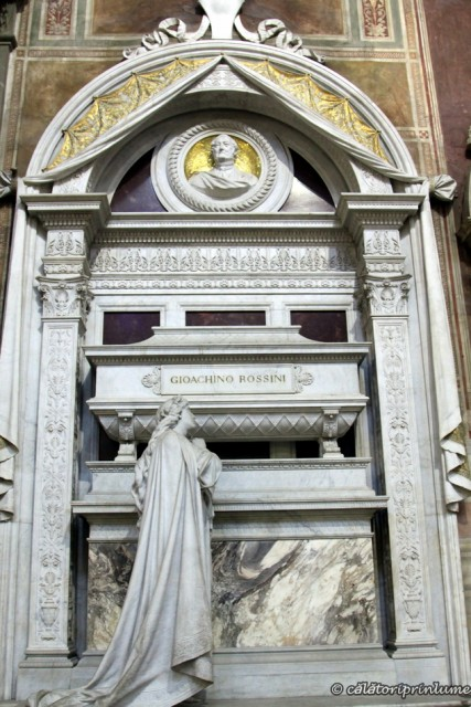 Basilica Santa Croce Rossini Memorial and crypt
