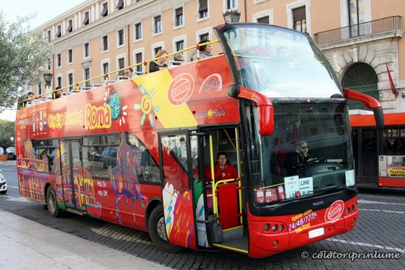 Double decker bus in Rome