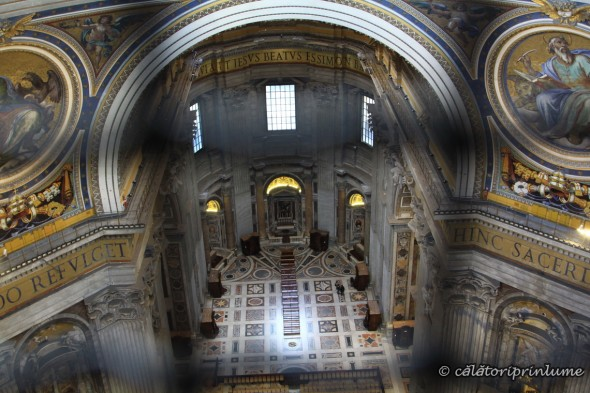 Inside the Church of St. Peter Vatican