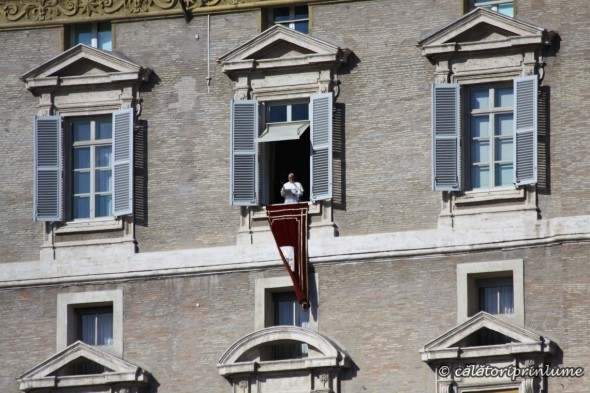 Papa Francesco saluting the crowds Vatican