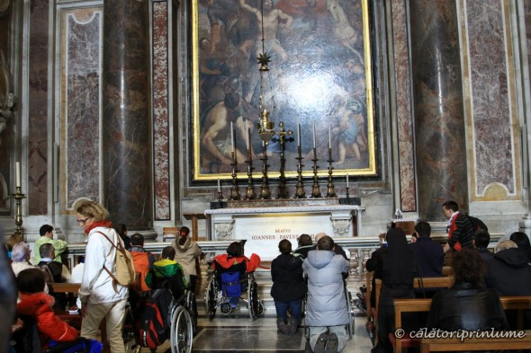 The tomb of Pope Paul John II inside the Church of St. Peter Vatican
