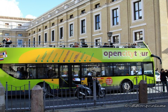 Tourist bus in Rome