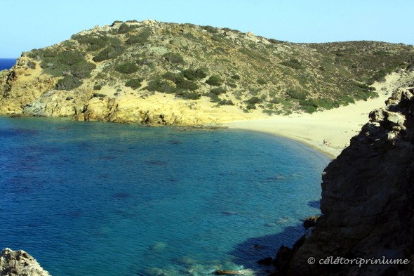 Vai Beach Crete - isolated beach in the right