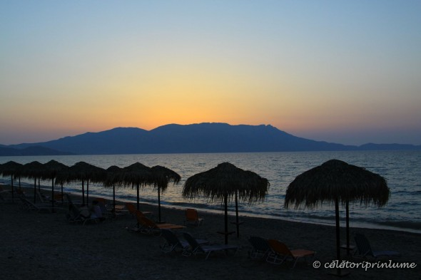 Crete Drapanias Beach sunset