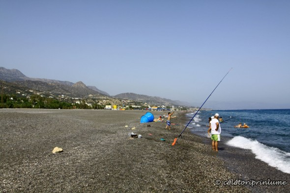 Fishing on Koutsounari Beach Crete