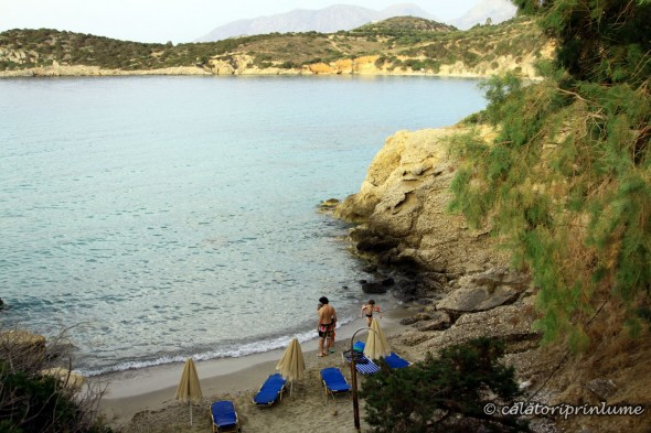 Nice private beach close to Voulisma Beach Crete
