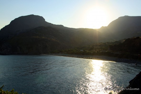 Sunset over Souda Beach Crete