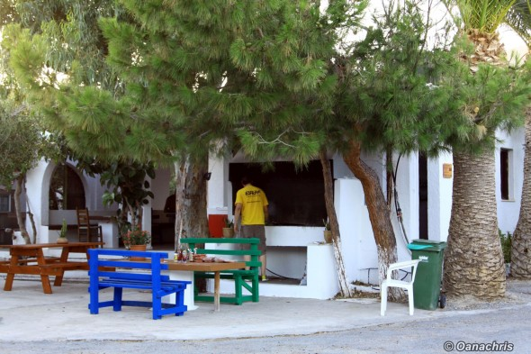 Camping Koutsounari Crete - the common area for grill