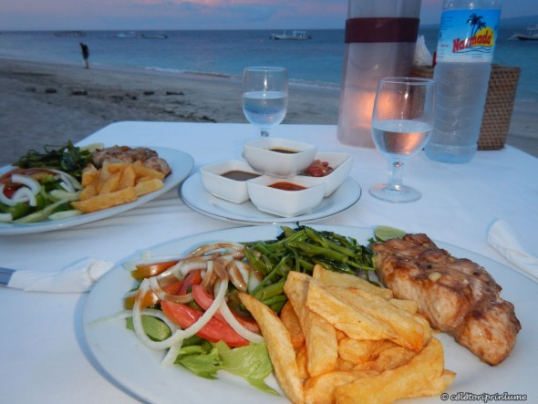 Grilled Tuna with french fries, Gili Air